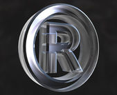 Registered symbol in glass (3d) — Stock Photo