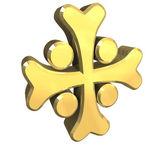 Armenian cross in gold - 3D — Stock Photo