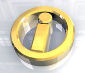 Info symbol in gold (3d) — Foto Stock