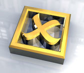 Ko tick in gold - 3D — Foto Stock