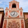 Clock Tower in Loano, Liguria, Italy — Stock Photo