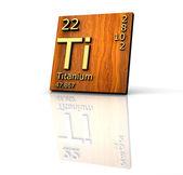 Titanium form Periodic Table of Elements — Stock Photo