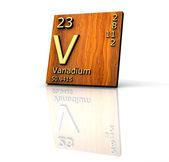 要素のバナジウム フォーム周期表 — ストック写真
