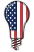 Usa american button flag lamp shape — Stock Photo