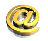 Email symbol in gold (3d) — ストック写真