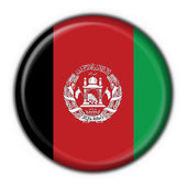 Afghanistan button flag round shape — Stock Photo