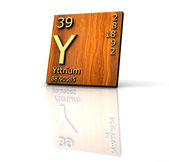 Yttrium form Periodic Table of Elements - wood board — Stock Photo