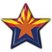 Arizona (USA State) button flag star shape — Stock Photo