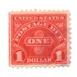 Old postage stamps from USA one Dollar — Stock Photo #3320109