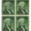 Four old postage stamps from USone cent — Stock Photo #3320139