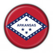 Arkansas (USA State) button flag round shape — Stock Photo #3321135