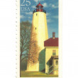 Old postage stamp from USA with Lighthouse — Stok fotoğraf