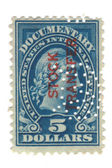 Old postage stamp from USA 5 dollars — Stock Photo