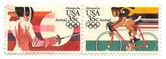 Old postage stamps from USA — Zdjęcie stockowe