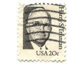 Staré poštovní známka z usa 20 centů — Stock fotografie
