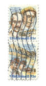 Viejos sellos postales de los e.e.u.u. - wright — Foto de Stock