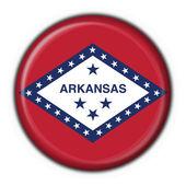 Arkansas (USA State) button flag round shape — Stock Photo