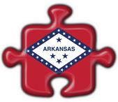 Arkansas (USA State) button flag puzzle shape — Stock Photo