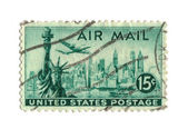 Old postage stamp from USA 15 cents — Stock Photo
