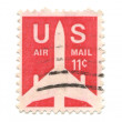 Old postage stamps from USA — Stock Photo