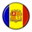 Andorra button flag round shape - Stock Photo
