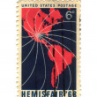 Stock Photo: Old postage stamp from USwith america