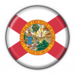 Florida (USA State) button flag round shape — Stock Photo