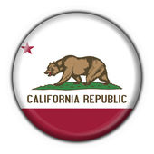 California (USA State) button flag round shape — Stock Photo