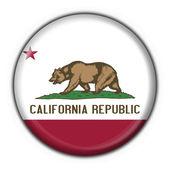California (USA State) button flag round shape — Stock Photo