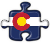 Colorado (USA State) button flag puzzle shape — Stockfoto