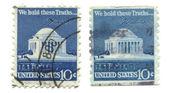 米国の寺院から古い切手 — ストック写真