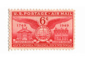 Old postage stamp from USA six cent — Stock Photo