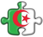 Bandera de argelia botón puzzle forma — Foto de Stock