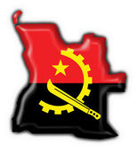 Angola button flag map shape — Stock Photo