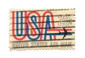 старая почтовая марка из сша 20 — Стоковое фото