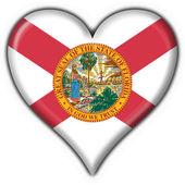 Florida (USA State) button flag heart shape — Stock Photo