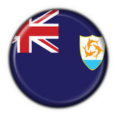 Anguilla button flag round shape — Stock Photo