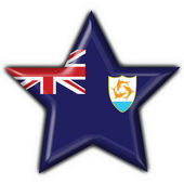Anguilla button flag star shape — Stock Photo