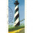 Stock Photo: Old postage stamp from USwith Lighthouses