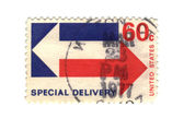 Old postage stamp from USA special delivery — Стоковое фото