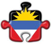 Antigua & Barbuda button flag puzzle shape — Stockfoto
