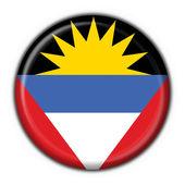 Antigua & Barbuda button flag round shape — Stock Photo
