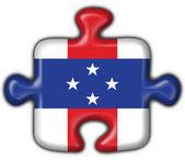 Netherlands Antilles button puzzle round shape — Stock Photo