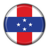 Netherlands Antilles button flag round shape — Stock Photo