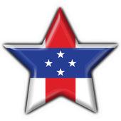 Netherlands Antilles button flag star shape — Stok fotoğraf