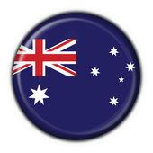 Australian button flag round shape — Stock Photo