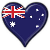 Australian button flag heart shape — Stock Photo