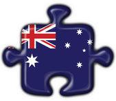 Australian button flag puzzle shape — Stock Photo