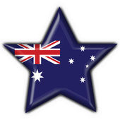 Australian button flag star shape — Stockfoto