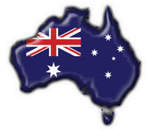 Australian button flag map shape — Stock Photo